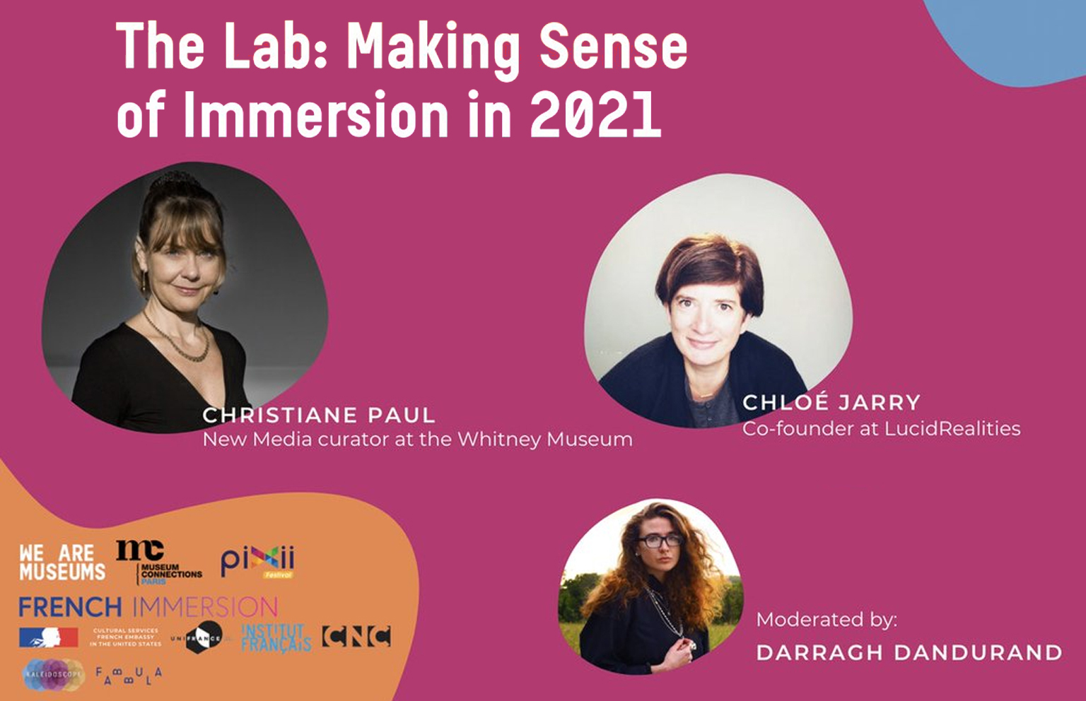 "Chloé Jarry, CEO of Lucid Realities, will be participating to ""The Lab: Making sense of Immersion in 2021"""