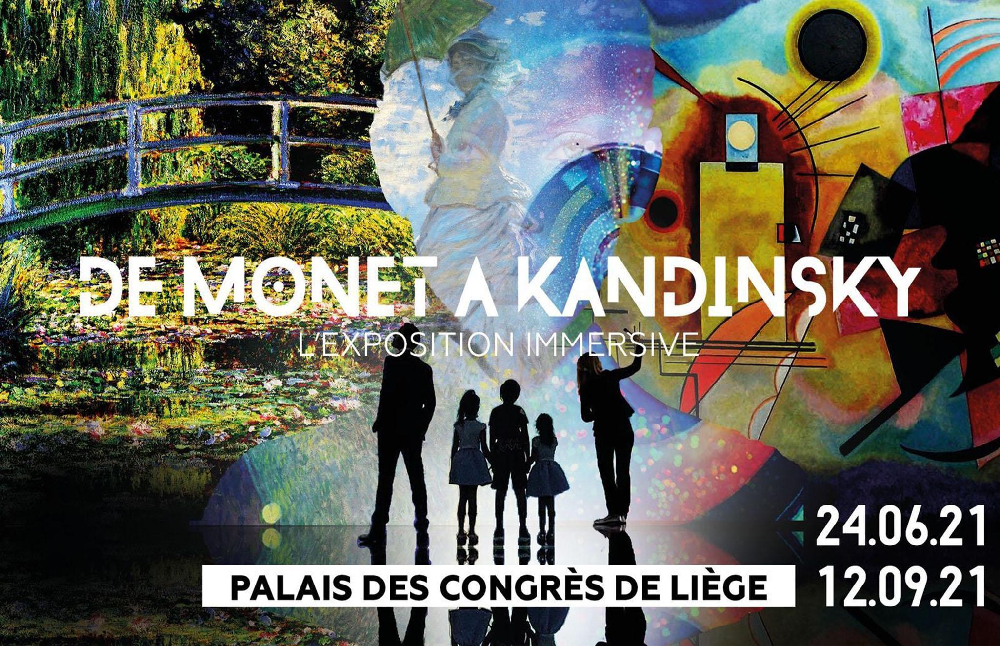 """""""CLAUDE MONET : l'obsession des nymphéas"""" rejoint l'exposition immersive """"De Monet à Kandinsky, vers le Modernisme"""" présentée au  Palais des Congrès de Liège"""